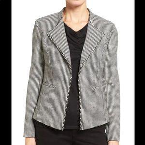Nordstrom black & white houndstooth blazer, jacket
